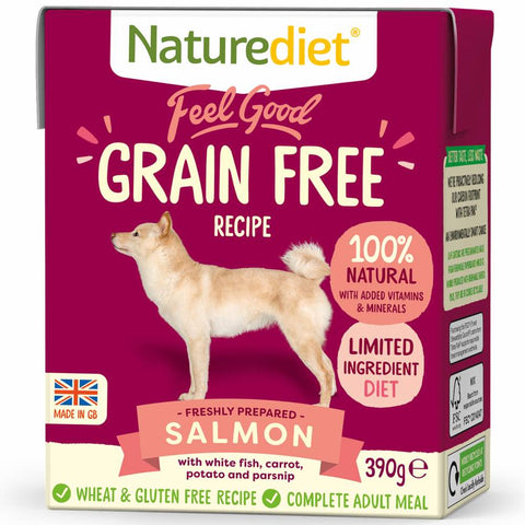 Naturediet Feel Good Grain Free Salmon Wet Dog Food 390g - Kohepets
