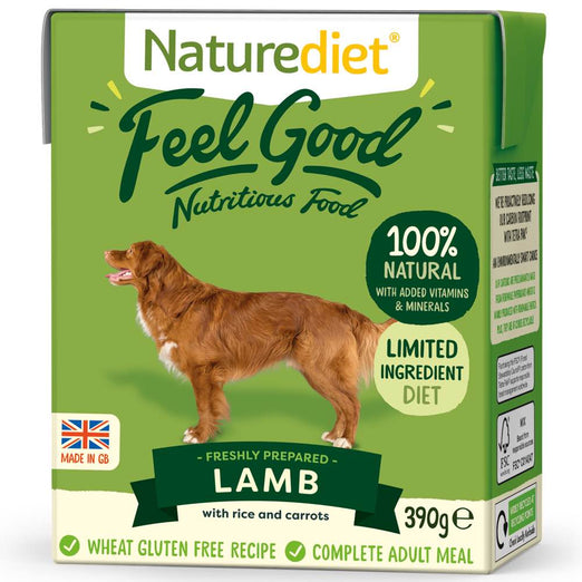 20% OFF: Naturediet Feel Good Lamb Wet Dog Food 390g - Kohepets