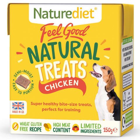 10% OFF (Exp May 21): Naturediet Feel Good Natural Chicken Dog Treats 150g - Kohepets