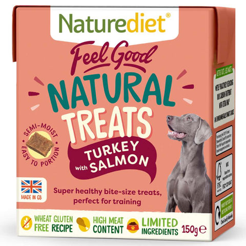 Naturediet Feel Good Natural Turkey with Salmon Dog Treats 150g