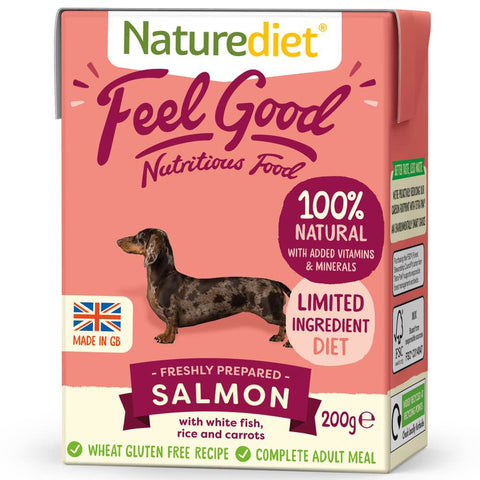 20% OFF(Exp Apr 21): Naturediet Feel Good Salmon Wet Dog Food 200g - Kohepets