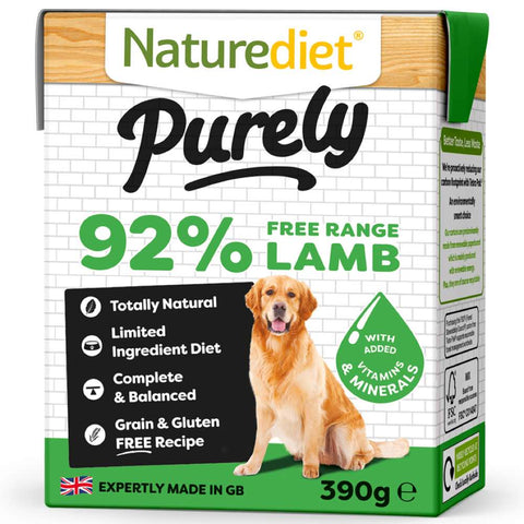 'BUY 2 GET 1 FREE': Naturediet Purely Lamb Grain Free Wet Dog Food 390g