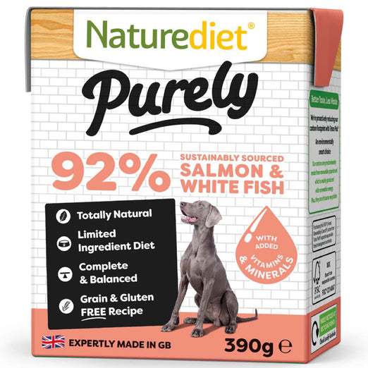 30% OFF (Exp Feb 21): Naturediet Purely Salmon & White Fish Grain Free Wet Dog Food 390g - Kohepets