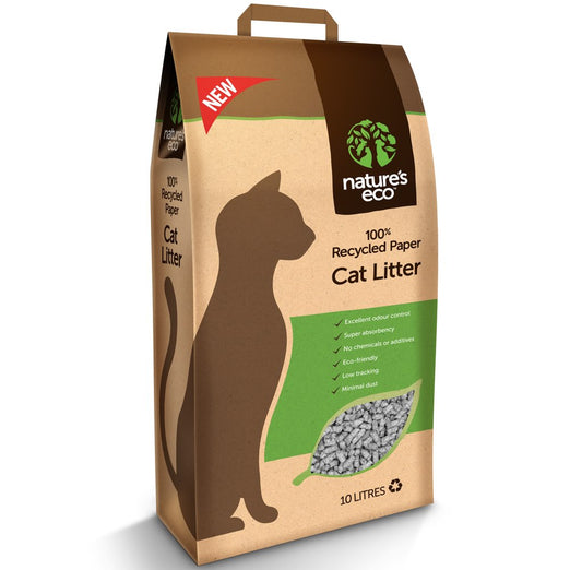 2 FOR $42.80: Nature's Eco Recycled Paper Cat Litter 30L