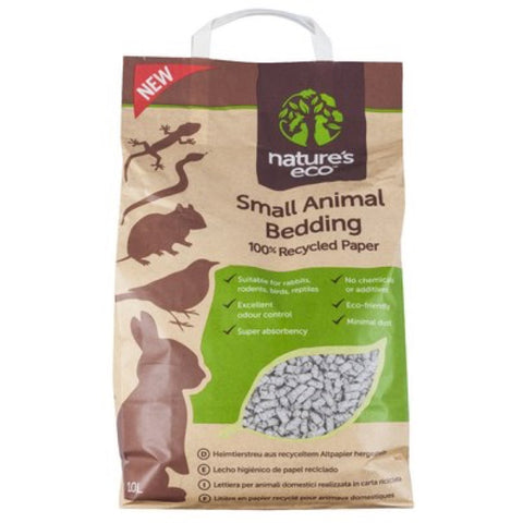 2 For $44: Nature's Eco Recycled Paper Small Animal Bedding 30L - Kohepets