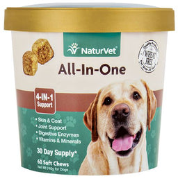 25% OFF: NaturVet All-In-One Soft Chew Cup 60 count