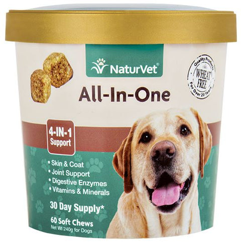 20% OFF: NaturVet All-In-One Soft Chew Cup 60 count