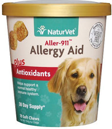 20% OFF: NaturVet Aller-911 Allergy Aid Plus Antioxidants Soft Chew Cup 70 count