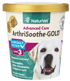 NaturVet ArthriSoothe-GOLD Level 3 Soft Chew Cup 70 count