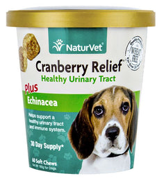 25% OFF: NaturVet Cranberry Relief Plus Echinacea Soft Chew Cup 60 count
