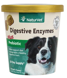 20% OFF: NaturVet Digestive Enzymes Plus Pre & Probiotics Soft Chew Cup 70 count