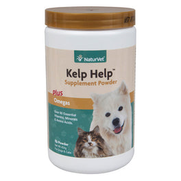 15% OFF: NaturVet Kelp Help Mineral & Vitamin Supplement Plus Omegas for Dogs & Cats 1lb