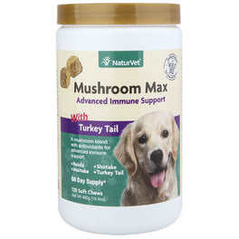 NaturVet Mushroom Max Advanced Immune Support Soft Chews Dog Supplement