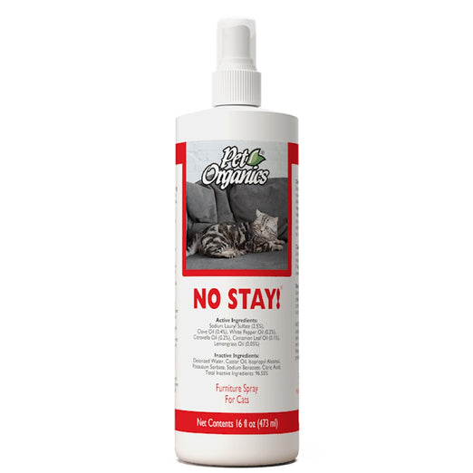 NaturVet Pet Organics No Stay! Furniture Spray For Cats 473ml - Kohepets