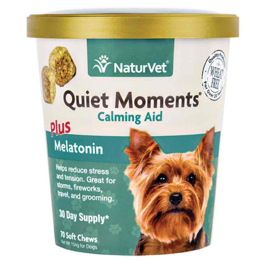 20% OFF: NaturVet Quiet Moments Calming Aid Soft Chews Dog Supplement 70ct - Kohepets