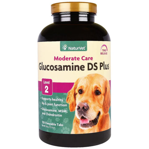 20% OFF: NaturVet Glucosamine Double Strength With MSM & Chondroitin Joint Supplement For Dogs 120ct
