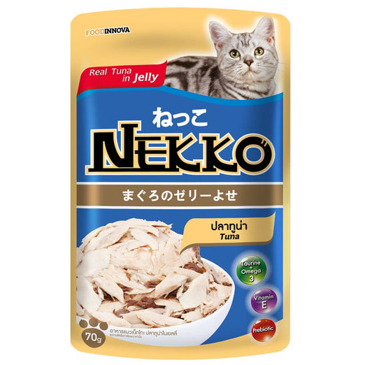 20% OFF: Nekko Tuna In Jelly Pouch Cat Food 70g - Kohepets