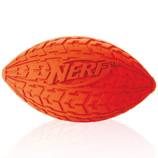 Nerf Dog DogTrax Tire Squeak Football Dog Toy (Small) - Kohepets