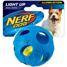 Nerf Dog LED Bash Ball Light-Up Dog Toy (Small)