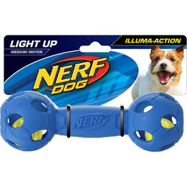 Nerf Dog LED Bash Barbell Light-Up Dog Toy (Medium)