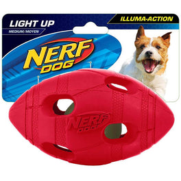 Nerf Dog LED Bash Football Light-Up Dog Toy (Medium)