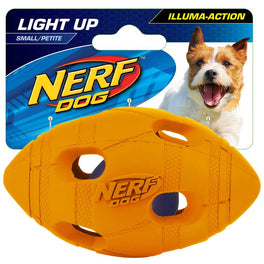 Nerf Dog LED Bash Football Light-Up Dog Toy (Small)