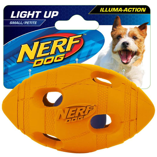 Nerf Dog LED Bash Football Light-Up Dog Toy (Small) - Kohepets
