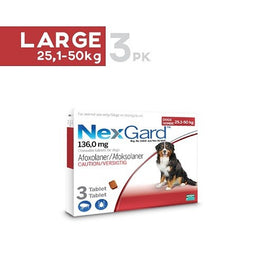 NexGard Chews For Large Dogs (25-50kg) 3ct