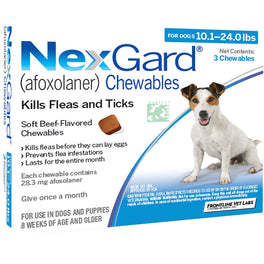 NexGard Chews For Small Dogs (4-10kg) 3ct