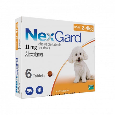 NexGard Chews For Very Small Toy Dogs (2-4kg) 6ct