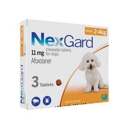 NexGard Chews For Very Small Toy Dogs (2-4kg) 3ct