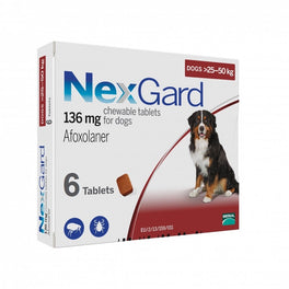 NexGard Chews For Large Dogs (25-50kg) 6ct