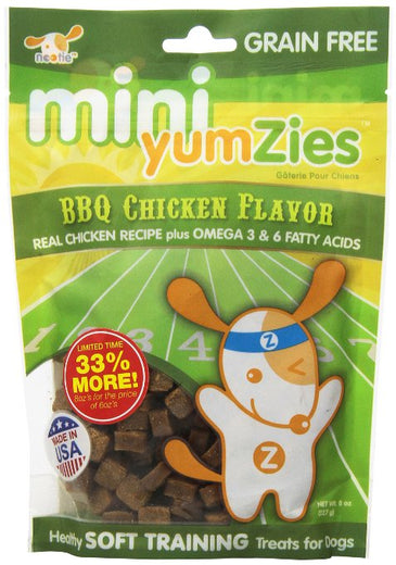 Nootie Mini Yumzies Grain Free Soft BBQ Chicken Dog Treat 8oz - Kohepets