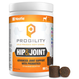 Nootie Progility Hip & Joint With Probiotics Soft Chew Dog Supplements 90ct