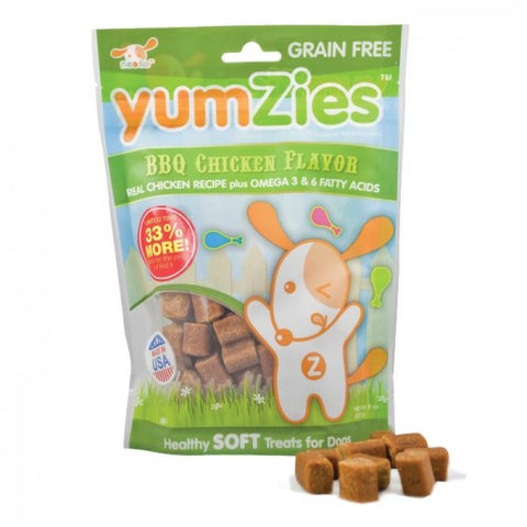 Nootie Yumzies Grain Free Soft BBQ Chicken Dog Treats 8oz - Kohepets