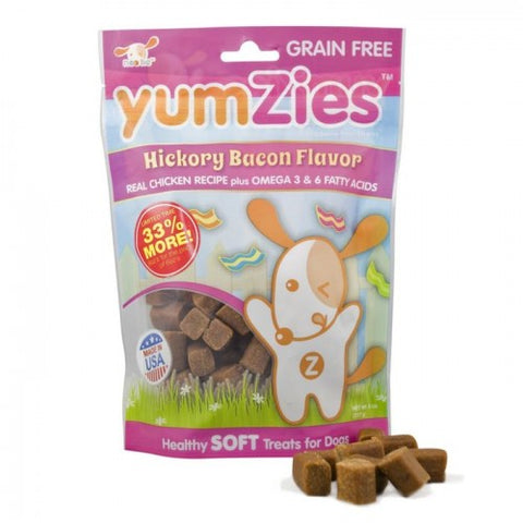Nootie Yumzies Grain Free Soft Hickory Bacon Dog Treats 8oz - Kohepets