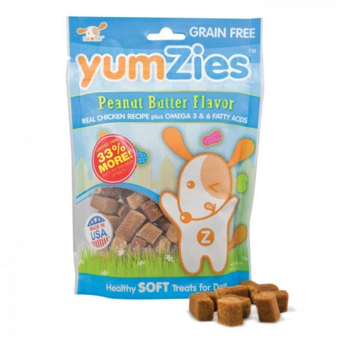 Nootie Yumzies Grain Free Soft Peanut Butter Dog Treats 8oz - Kohepets