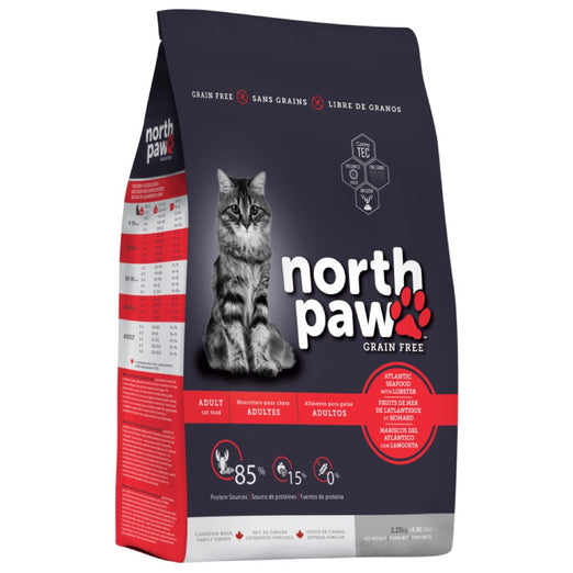 25% OFF (Exp Oct 20): North Paw Atlantic Seafood with Lobster Grain-Free Dry Cat Food 2.25kg