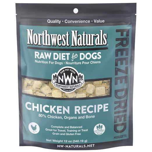 4 FOR $159: Northwest Naturals Chicken Freeze Dried Raw Diet For Dogs 12oz - Kohepets