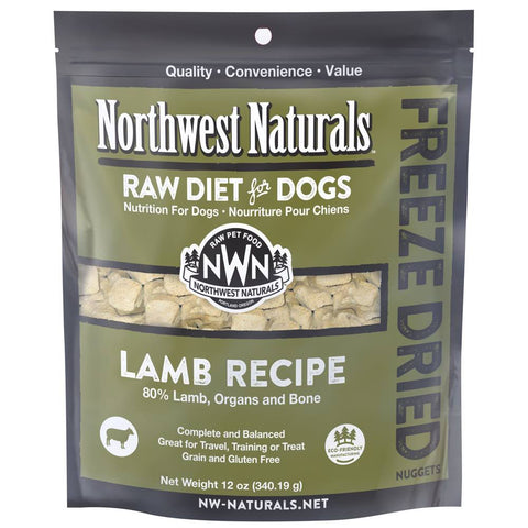 4 FOR $159: Northwest Naturals Lamb Freeze Dried Raw Diet For Dogs 12oz - Kohepets