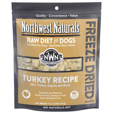 4 FOR $159: Northwest Naturals Turkey Freeze Dried Raw Diet For Dogs 12oz - Kohepets