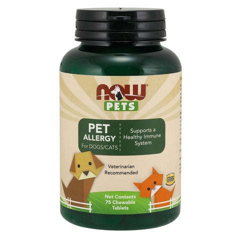 NOW Pets Pet Allergy Chewable Supplements for Cats & Dogs 75ct - Kohepets