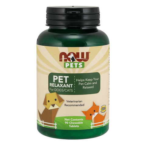 NOW Pets Pet Relaxant Chewable Supplements for Cats & Dogs 90ct - Kohepets