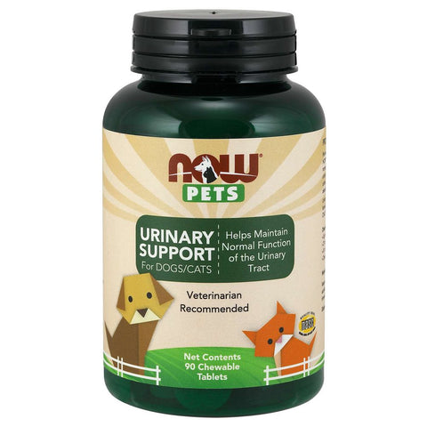NOW Pets Urinary Support Chewable Supplements for Cats & Dogs 90ct - Kohepets