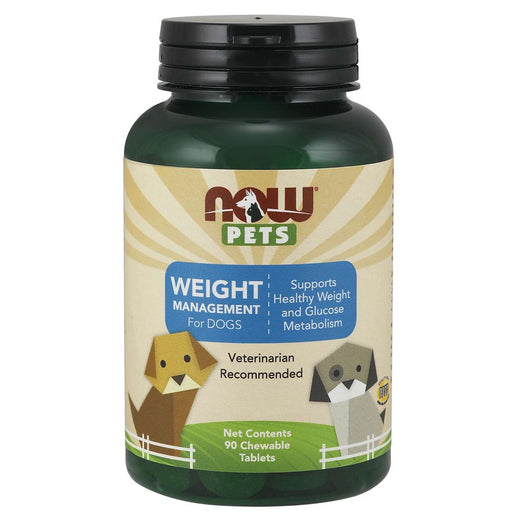 NOW Pets Weight Management Chewable Dog Supplements 90ct - Kohepets