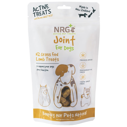 40% OFF (Exp 31 Aug 20): NRG+ Joint NZ Grass Fed Lamb Adult Freeze-Dried Dog Treats 120g