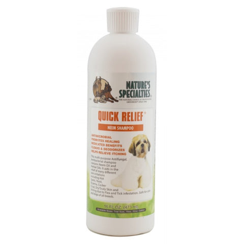 Nature's Specialties Quick Relief Neem Shampoo For Pets 16oz