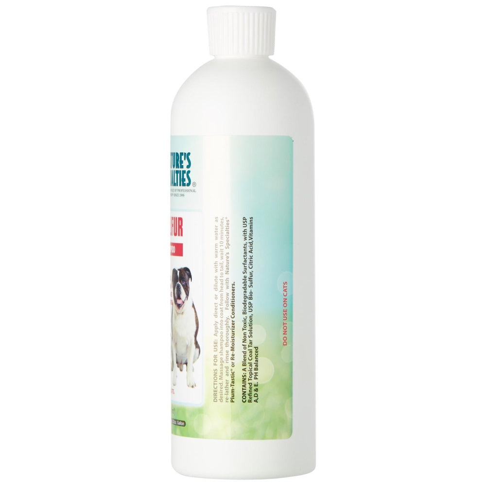 Nature's Specialties Tar & Sulfur Medicated Shampoo For Pets 16oz