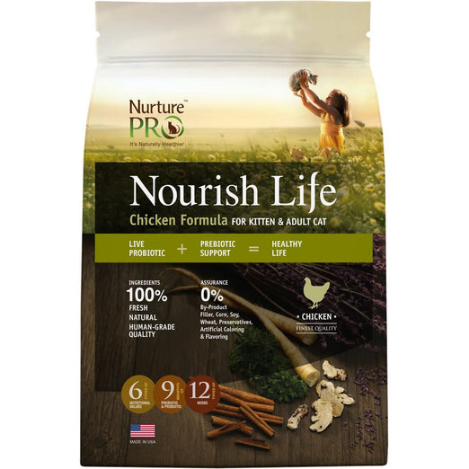 20% OFF: Nurture Pro Nourish Life Chicken Kitten & Adult Dry Cat Food - Kohepets