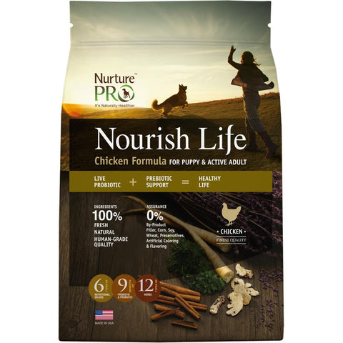 20% OFF: Nurture Pro Nourish Life Chicken Puppy & Adult Dry Dog Food - Kohepets